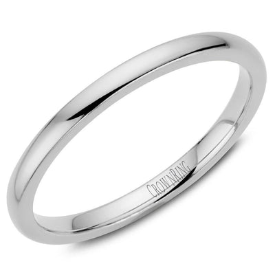 CLASSIC COURT SHAPE PLAIN BAND - KLARITY LONDON