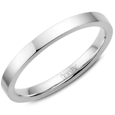 CLASSIC FLAT COURT SHAPE PLAIN BAND - KLARITY LONDON
