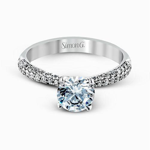 Three Row Pave Set Diamond Ring - KLARITY LONDON