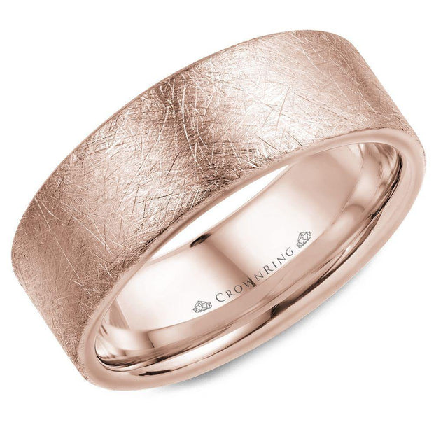 18k Rose Gold Wedding Band WB-025C8R - KLARITY LONDON