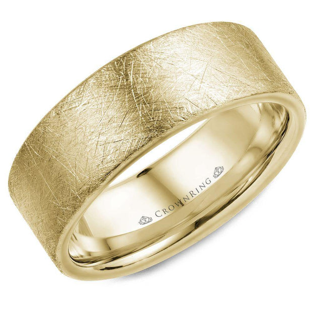 18k Yellow Gold Wedding Band WB-025C8Y - KLARITY LONDON
