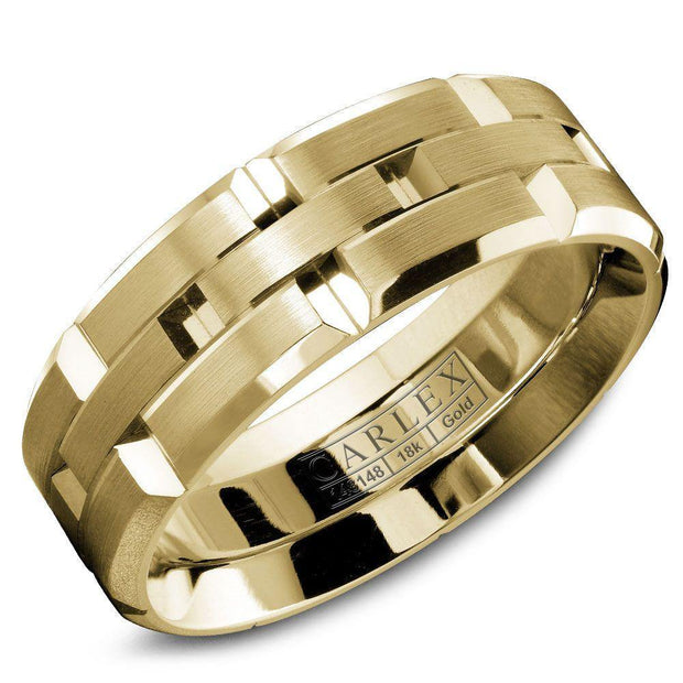 CARLEX Men's Luxury 18k yellow gold ring WB-9146YY - KLARITY LONDON