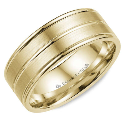 18k Yellow Gold Wedding Band WB-9901Y - KLARITY LONDON