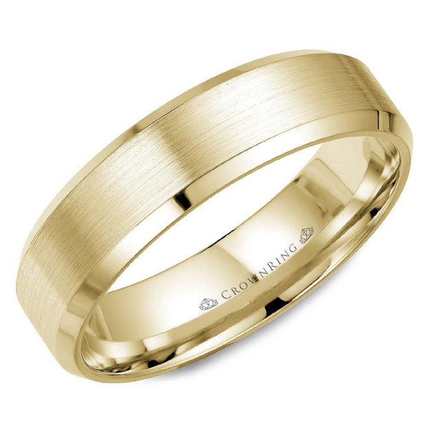 18k Yellow Gold Wedding Band WB-Y7007 - KLARITY LONDON