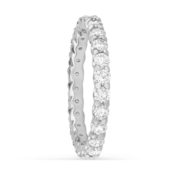 Claw Set Round Diamond Band - KLARITY LONDON