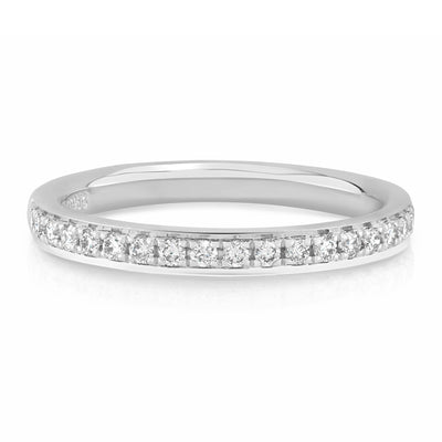 Micro Pave Round Diamond Band - KLARITY LONDON