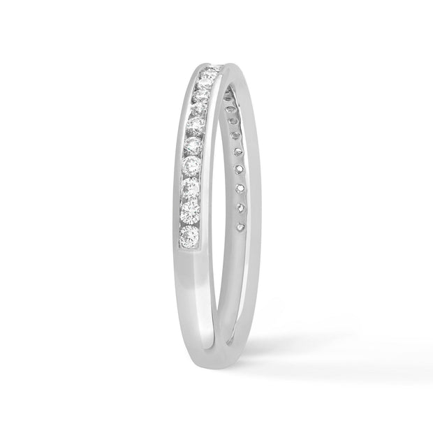 CHANNEL SET ROUND DIAMOND BAND - KLARITY LONDON