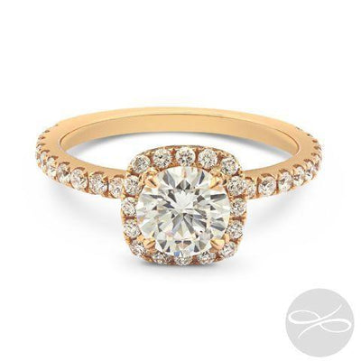 DP Custom Rose Gold Halo  - 1.10ct Total Carat Weight - KLARITY LONDON