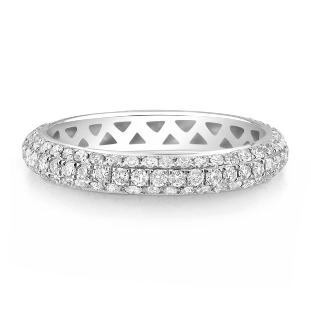 Dome Pave Set Diamond Band - KLARITY LONDON