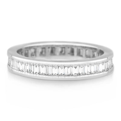 channel set baguette diamond band £2,500 - KLARITY LONDON