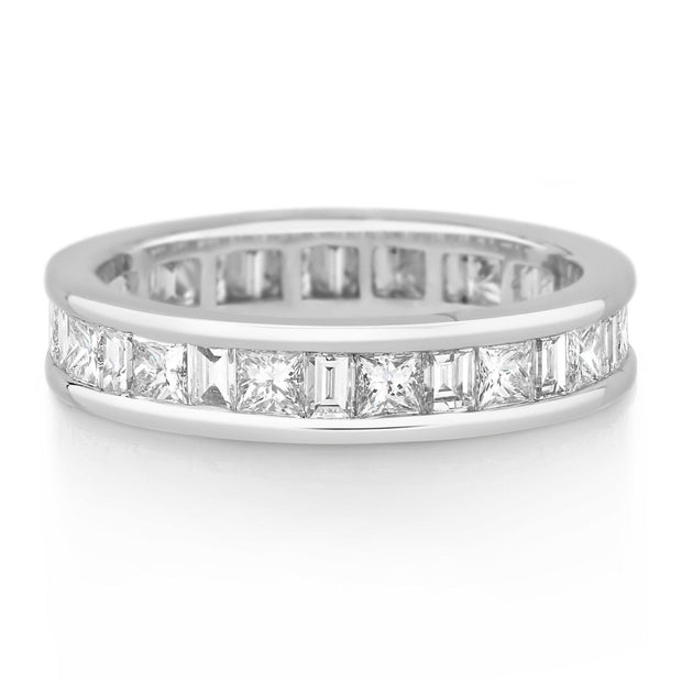 Channel Set Princess & Baguette Diamond Band £3,500 - KLARITY LONDON