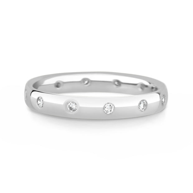 Inset Diamond Band - KLARITY LONDON