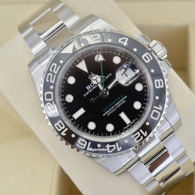 Rolex GMT-Master II Black Dial / Sealed - KLARITY LONDON