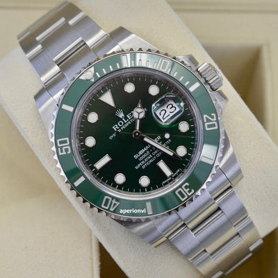2019 Submariner Date Green Dial Hulk / Sealed - KLARITY LONDON