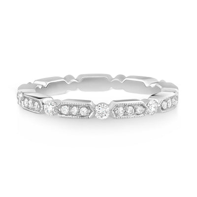 Vintage Inspired pave set band - KLARITY LONDON