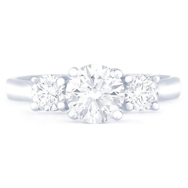 SARDINIA TRIPLE CROWN DIAMOND ENGAGEMENT RING - KLARITY LONDON