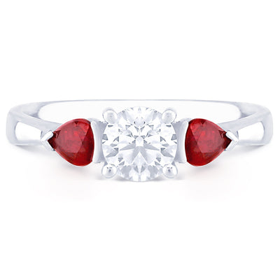 French Riviera with Pear Cut Rubies - KLARITY LONDON
