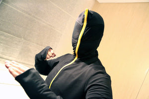 The Visor: Stealth Hoodie -Face Guard Hood with Clear Vision