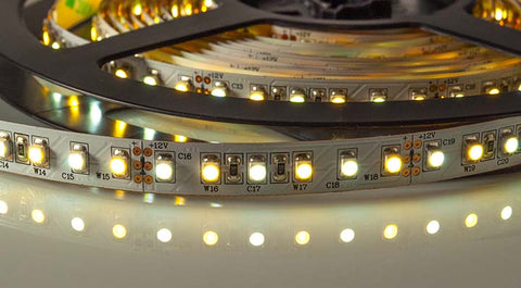 LED strip being shown as an example of what are LED lights.