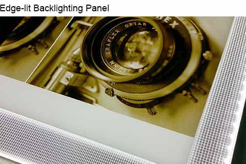 backlighting panel used to back light photographic image