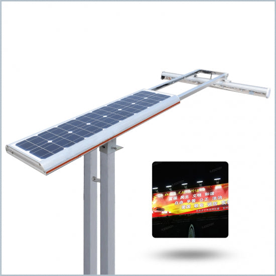 Solar LED billboard light, 3,360 lumen