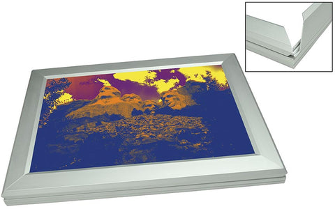 "Discontinued -- Light Box, LED Edge-Lit, 1"" Silver Frame, Includes Power Supply"