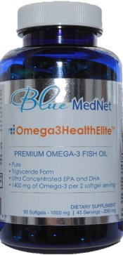 Omega3HealthElite Fish oil, 90 ct bottle
