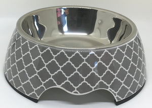 Modern Gray Medium Size Dog Bowl