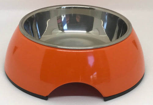 Orange Small Dog Bowl Pet Bowl | Cutie Ties