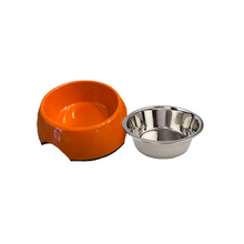 Load image into Gallery viewer, Orange Small Dog Bowl