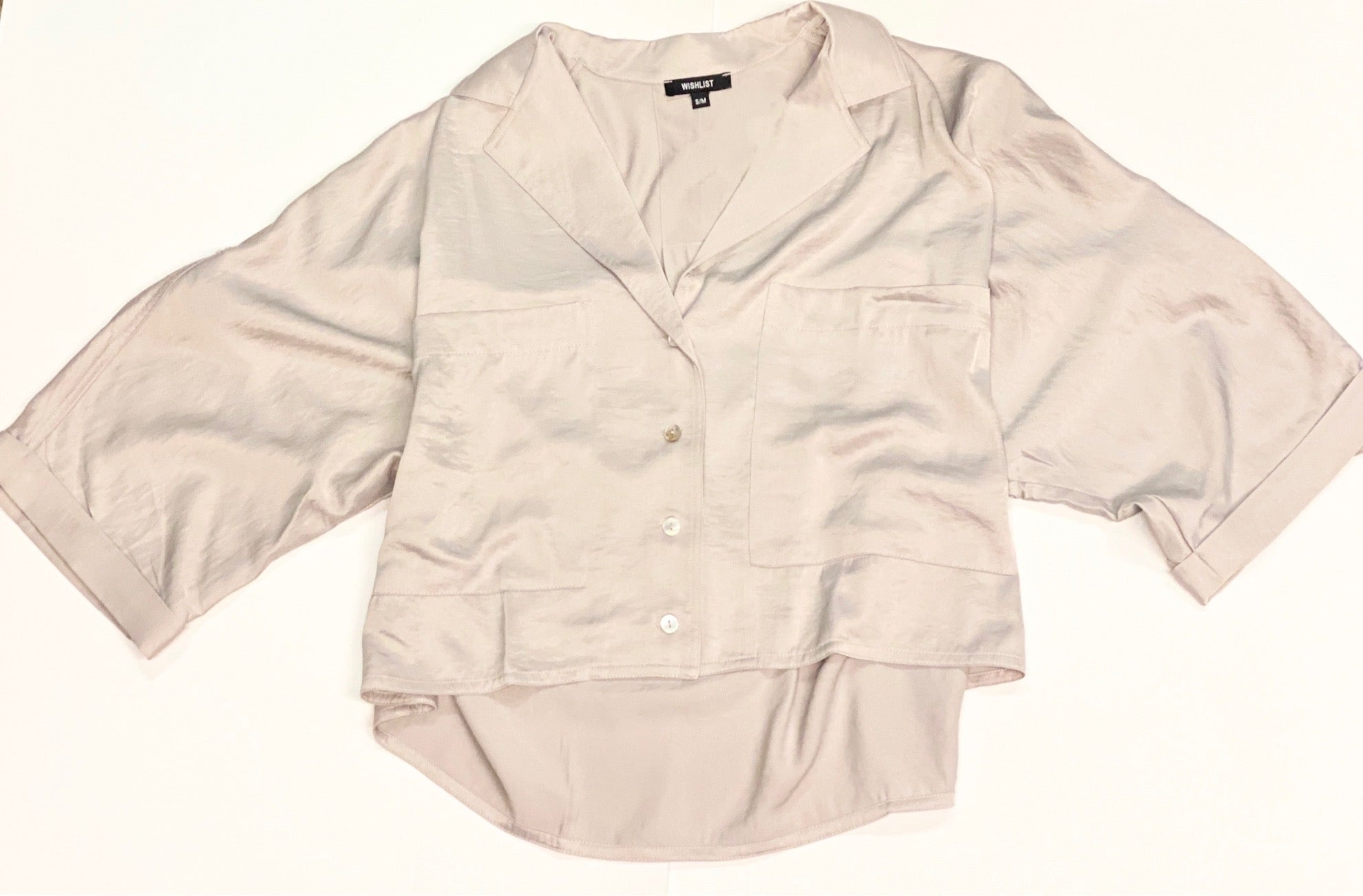 Mink Silk Button Down