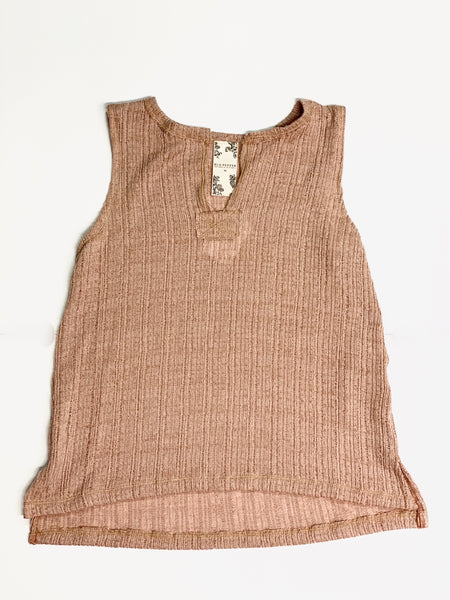 Sleeveless Knit Top - Peach
