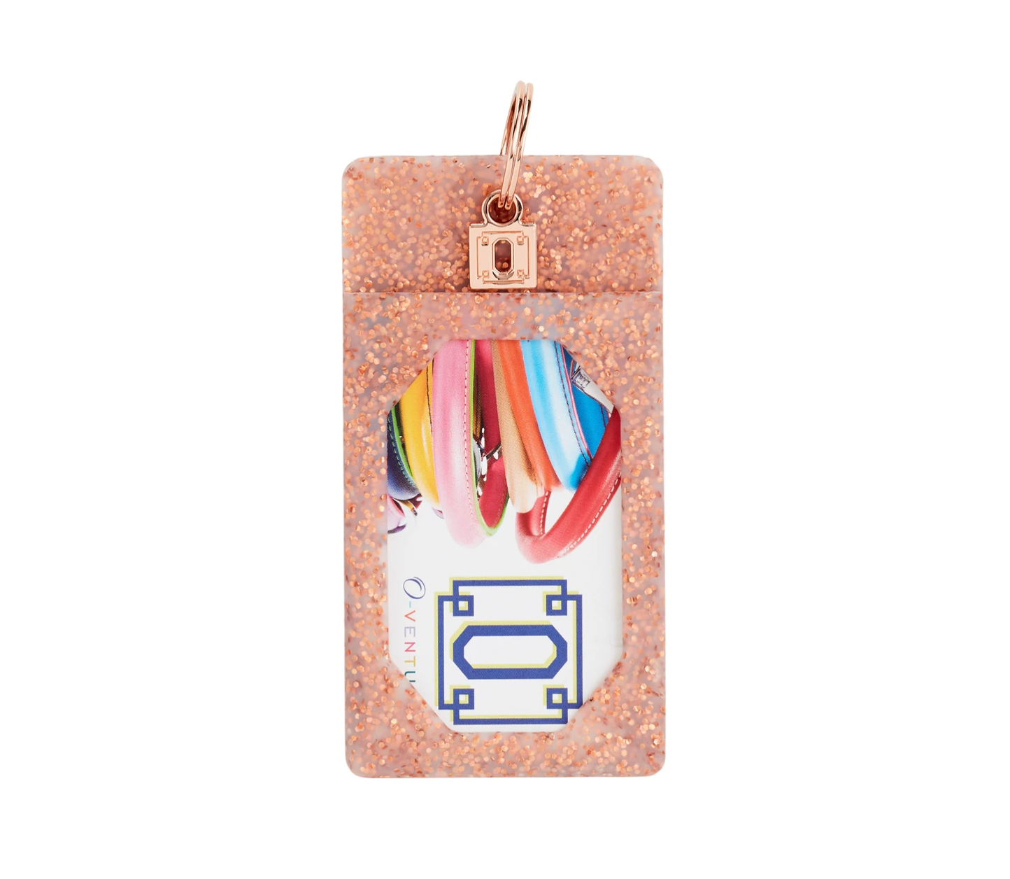 Rose Gold Confetti ID Card Holder