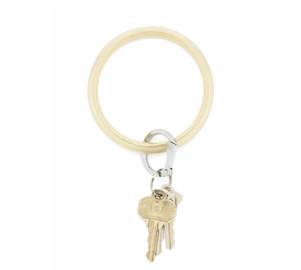Gold Rush Leather Key Ring