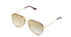 High Key Rimless Mini Gold Sunglasses