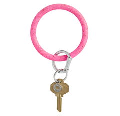 Tickled Pink Confetti Silicone Key Ring