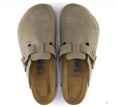 Boston Soft Footbed Suede - Taupe