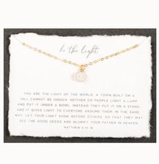 Be The Light Necklace (Gold)