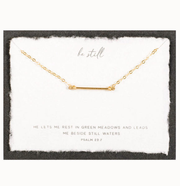 Be Still Necklace (Gold)