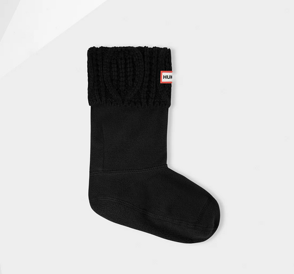 Cable Kit Book Socks - Black