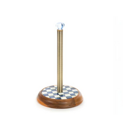 Paper Towel Holder - Royal Check