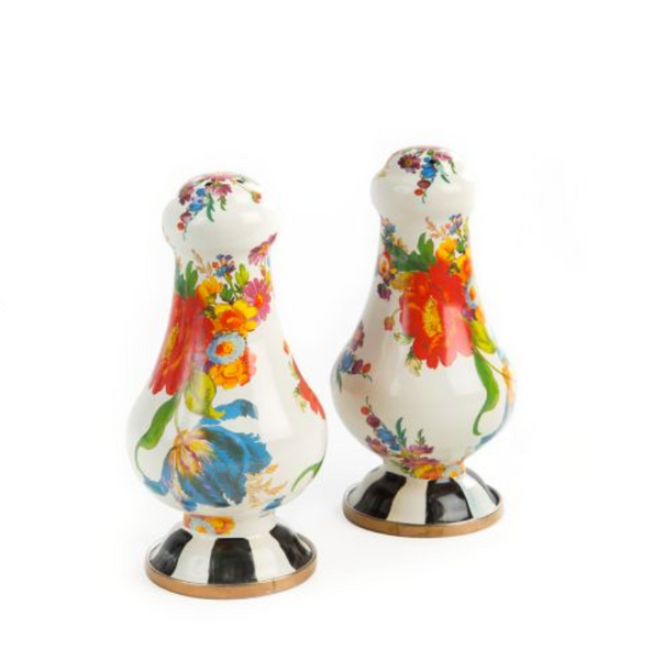 Salt + Pepper Shakers - Flower Market White