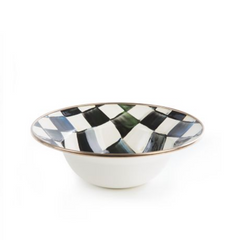 Enamel Breakfast Bowl - Courtly Check
