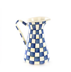 Large Practical Pitcher - Royal Check