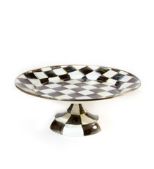 Small Pedestal Platter - Courtly Check