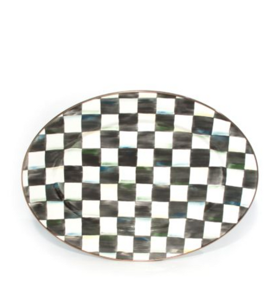 Oval Platter Med. - Courtly Check