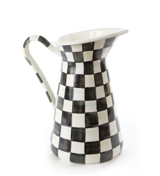 Large Practical Pitcher - Courtly Check