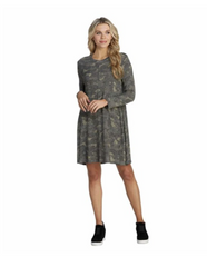 Jillie Swing Dress - Camo