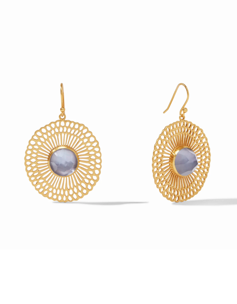 Soleil Earrings - Iridescent Slate Blue
