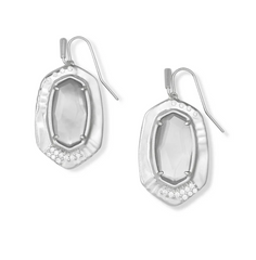 ANNA DROP EARRINGS - SILVER GRAY ILLUSION